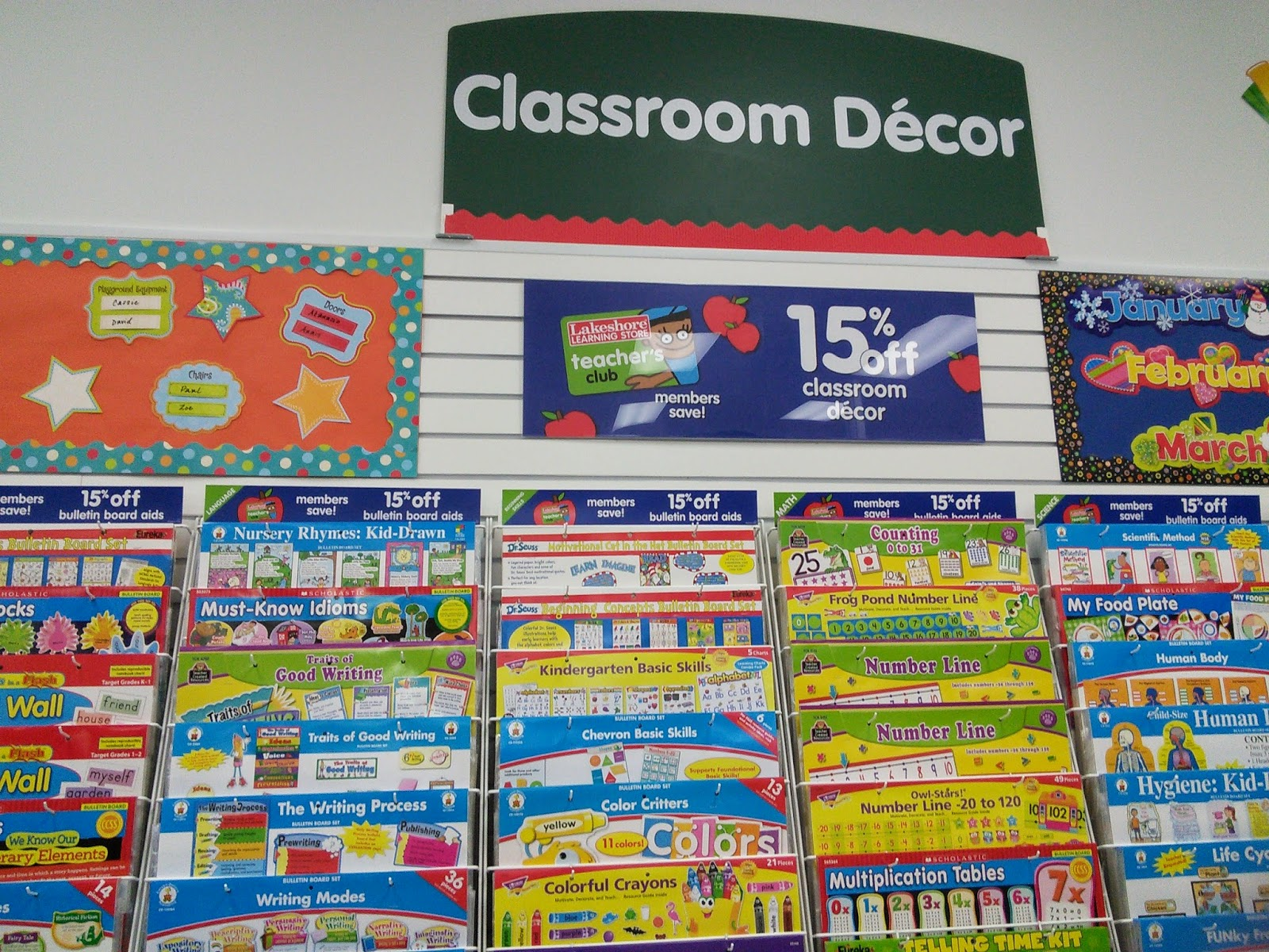 Lakeshore Classroom Decor ~ My boys loved the goody bag that i received for attending